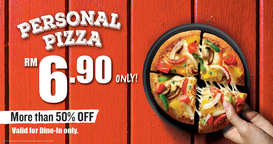 Personal Pizza RM6.90 only!